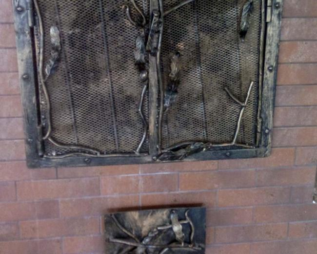 Кованый каминный портал