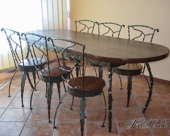 Кованый набор мебели