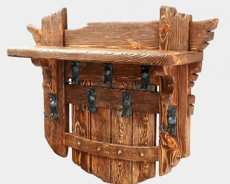 Вешалка деревянная в стиле кантри