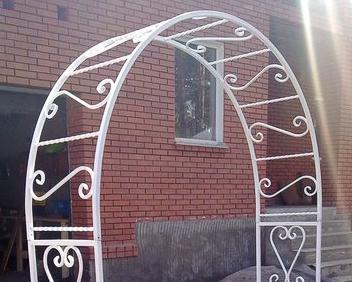 арка кованая свадьба